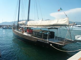 Szardínia kirándulás, a Matilda nevű vitorlás hajóval