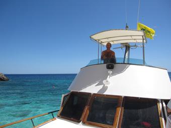 Szardínia sziget, Orosei öböl, Sergio kapitány