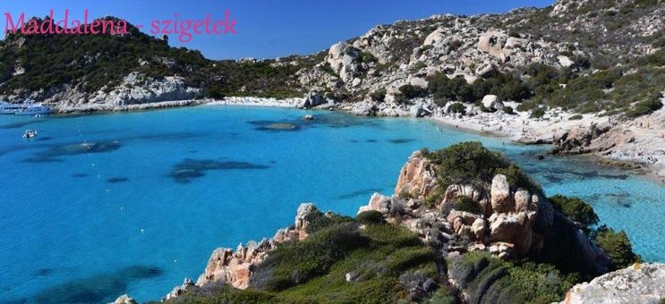 Szardínia szállás Maddalena szigetek öböl
