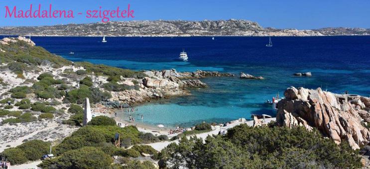 Szardínia szállás Maddalena szigetek strand