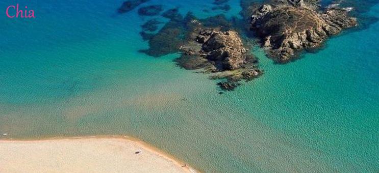 Szardínia szállás Chia tengerpart