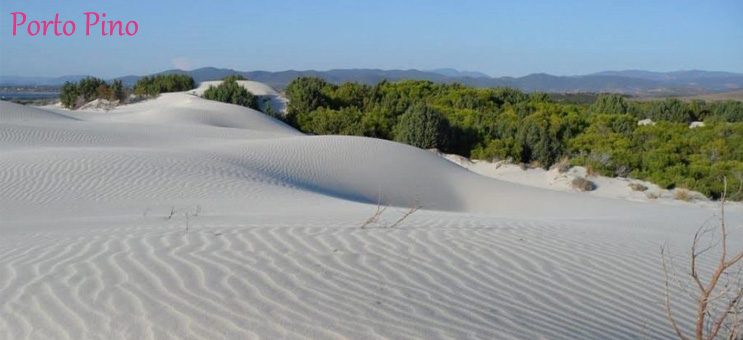 Szardínia szállás Porto Pino homok dűne